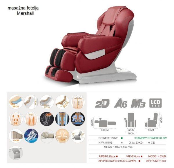 masažna fotelja marshall